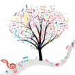 Music tree. — Stock Vector