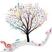 Music tree. — Stock Vector