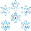 Royalty-Free Stock Photo: Christmas snowflakes icon set