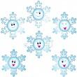 ������, ������: Christmas snowflakes icon set