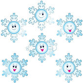 Christmas snowflakes icon set — Stock Vector