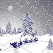 Winter christmas landscape — Vector de stock #15788493