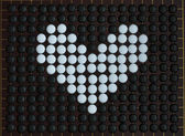 Love heart shaped on goe boardgame — Stock Photo