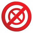 Royalty-Free Stock Imagen vectorial: Sign forbidden