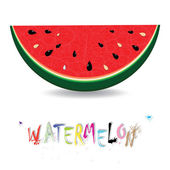 Watermelon fresh slices background. Red sweet juice pattern vector illustration. — Stock Vector