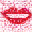 Seamless love pattern of geometric lip — Stock Vector