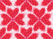 Seamless love pattern of geometric heart — Stok Vektör