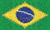 Brazil flag, vector texture — Stock Vector