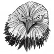 Bald eagle head as USA symbol for mascot or emblem design, such a logo. — Stock Vector