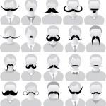 Mustaches set — Stock Vector