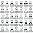 Mustaches set — Vector de stock  #28358851