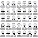 胡须套 — 图库矢量图片