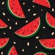 Fresh slices of red watermelon — Stock Vector