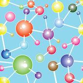 Ilustração em vetor fundo molécula comunicação — Vetorial Stock