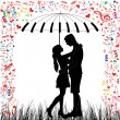 Young Couple in love — Stock Vector