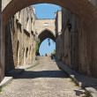 Medieval Avenue of the Knights Greece. Rhodos island. — Stock Photo #33176789