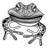 Frog animal head symbol for mascot or emblem design vector illustration for t-shirt — Stockvector