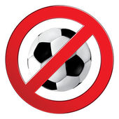 No Ball Games sign — Stock Vector