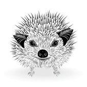 Hedgehog symbol — Stock Vector