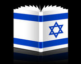 Open book - Israel flag — Stock Photo