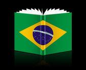 Open book - brazil flag — Stock Photo