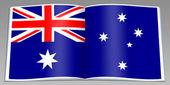Book depicting flag Australia — Stock Photo