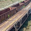 Old rusty train wagons — Stock Photo #12440159
