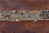 Textura de metal oxidado como telón de fondo — Foto de Stock