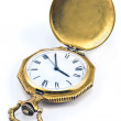 Stock Photo: Antique gold pocket watch