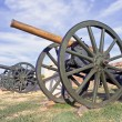 Old cannons on fortress over blue sky — Stock Photo #12800959