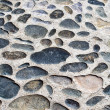 Cobble walkway as background — Stock Photo