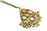 宝石とアンティークの銀のネックレス — ストック写真