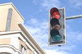 Traffic lights against sky backgrounds — Foto de Stock