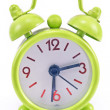 Green alarm clock - Foto Stock