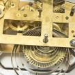 Stock Photo: Inside mechanism of old alarm clock