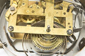 Inside mechanism of old alarm clock — Stockfoto