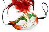 Carnaval masker met veren en diamant — Stockfoto