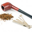 Tobacco pipe and cleaning tool — Stock Photo #21596851