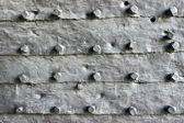 Medieval iron door texture as background — Stock Photo