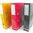 Three colorful  office  folders — Stock Photo