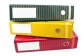три красочные офиса папки — Стоковое фото