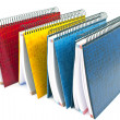 Foto Stock: Colorful spiral notebooks