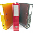 Stok fotoğraf: Three colorful office folders