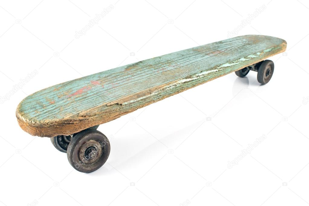 skateboard en bois ancienne photographie gavran333 26455971. Black Bedroom Furniture Sets. Home Design Ideas