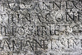 Roman letters stone texture as background — Stock Photo