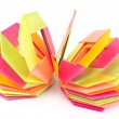 Colorful origami paper octagon shapes — Stock Photo