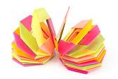 Bunte origami papier achteck formen — Stockfoto