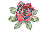 Kleurrijke lotus origami geïsoleerd op wit — Stockfoto
