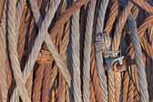 Rusty iron rope background — Stock Photo