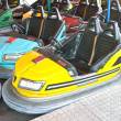 Stock Photo: Bumper cars in amusement park